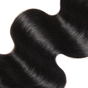 Allove 9A Brazilian Body Wave Human Hair 3 Bundles With 13x4 Lace Frontal