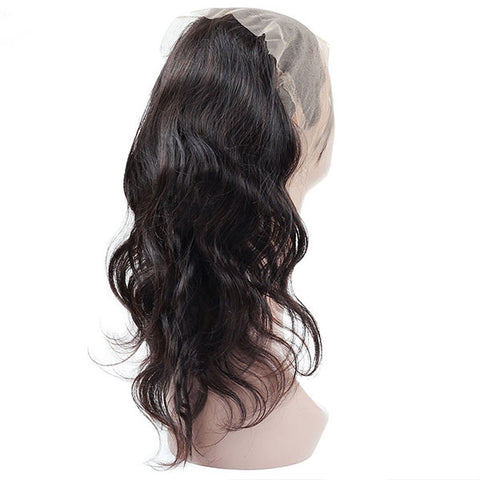 Ishow Hair Pre-plucked 360 Lace Frontal Body Wave Virgin Human Hair Lace Closure