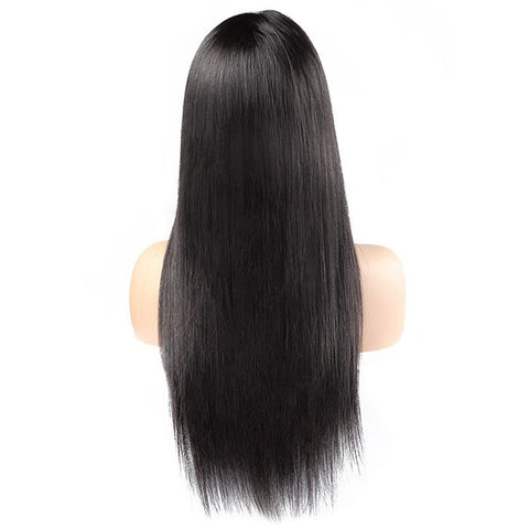 360 Straight Human Hair Wigs 150% Density Lace Front Wig