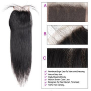 Virgin Remy Human Hair Bundles With Lace Closure to Customize Lace Wigs