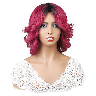 Ombre Color Human Hair Wigs Fashion Wigs No Lace Wigs
