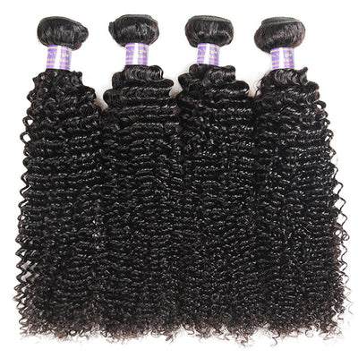 Allove 9A Kinky Curly Virgin Hair Unprocessed Brazilian Human Hair 4 Bundles Deal