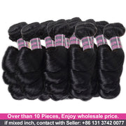 Wholesale Virgin Human Hair Bundles 10 Pieces Loose Wave Hair