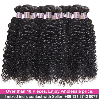 Wholesale Virgin Human Hair Bundles 10 Pieces Curly Hair