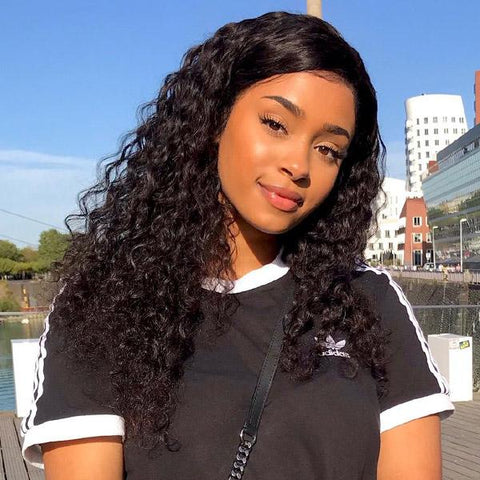 Hairsmarket Deep Wave Lace Front Wig 150% Density 4*4 Human Hair Wigs