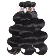 Ishow Non Remy Hair Malaysian Body Wave 3 Bundles With 13*4 Lace Frontal Human Hair Weaves