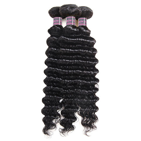 Ishow Hair Malaysian Deep Wave 3 Bundles Virgin Human Hair Extensions