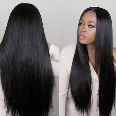 Ishow Brazilian Straight Hair 3 Bundles With Lace Frontal Closure Virgin Human Hair