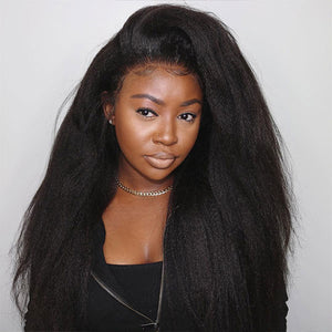 Ishow Malaysian Yaki Straight Human Hair Weave 4 Pcs With 4x4 Lace Closure