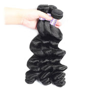 Allove 8A Brazilian Virgin Human Hair 3 Bundles Loose Wave Hair