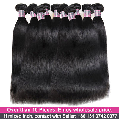 Wholesale Virgin Human Hair Bundles 10 Pieces Straight Hair