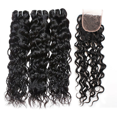 8A Ishow Water Wave Hair Buy 3 Bundles Get 1 FREE Closure