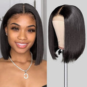 Short Bob Lace Part Wigs 150% Density Human Hair Wigs