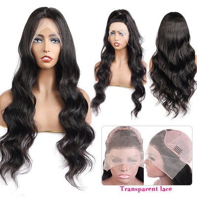 Long HD Human Hair Wig Body Wave 13*4 Lace Front Wigs