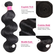 Meetu 8A Non Remy Brazilian Virgin Hair Body Wave Human Hair 3 Bundles