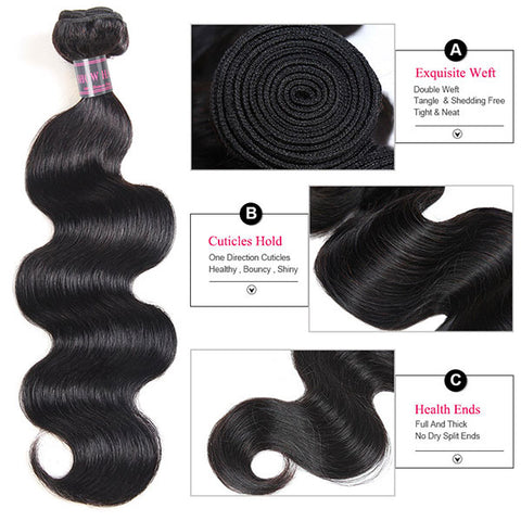 Ishow Hair 2 Bundle Body Wave Virgin Human Hair Extensions