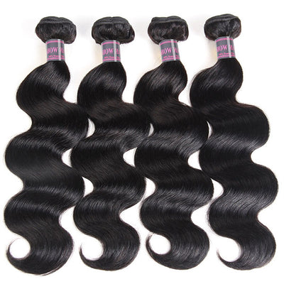 Ishow Indian Cheap Virgin Hair Body Wave Weave 4 Bundles