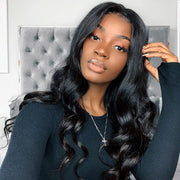 Hairsmarket 150% Density Peruvian Hair 360 Body Wave Human Hair Wigs