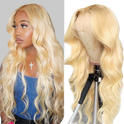 613# Blonde Body Wave HD Lace Wigs 13*4 Lace Front Wig Human Hair Wigs