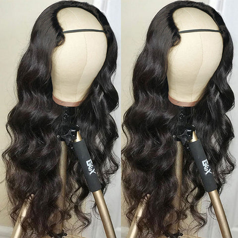 Body Wave Affordable Virgin Remy Human Hair Wigs U Part Wig 100% Human Hair Wigs