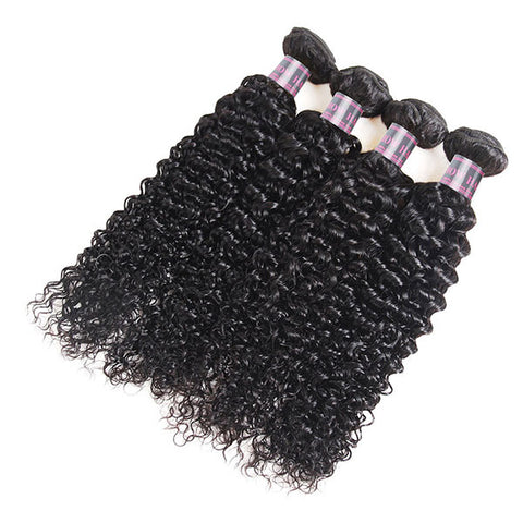 Ishow Malaysian Virgin Hair 4 Bundles Unprocessed Kinky Curly Hair Extensions