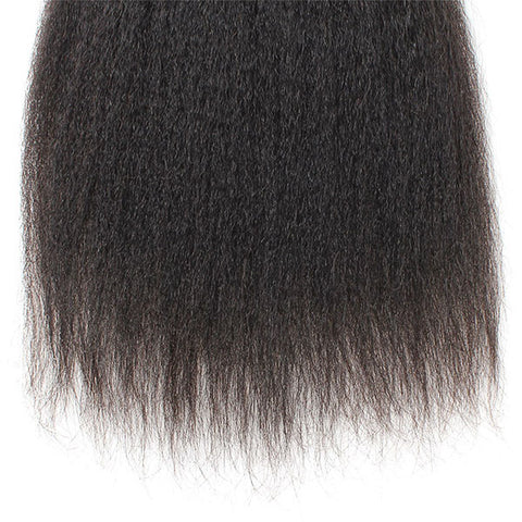 Ishow Hair 2 Bundles Yaki Straight Virgin Human Hair Extensions
