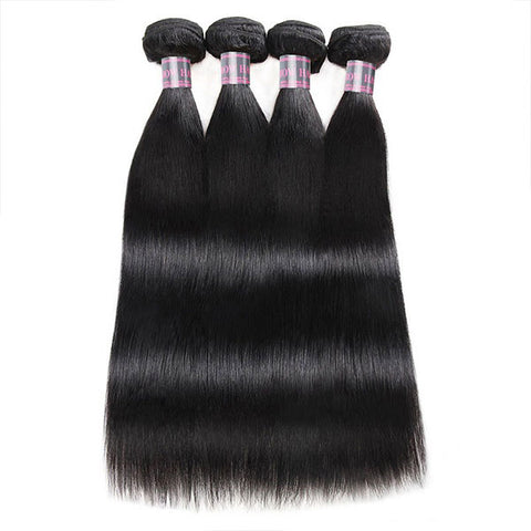 Ishow Unprocessed Virgin Malaysian Human Hair Straight 4 Bundles