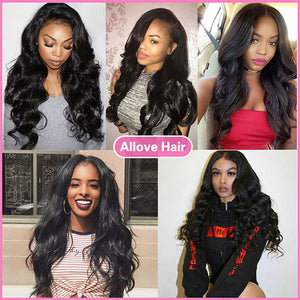 Allove Malaysian Body Wave 8A 3 Bundles Deals Non Remy 100% Human Hair