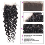 9A Allove Water Wave Virgin Hair 3 Bundles With One FREE Closure
