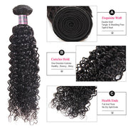 Ishow Non Remy Hair Peruvian Curly Wave Virgin Human Hair 3 Bundles