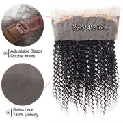 Ishow Hair 360 Lace Frontal Kinky Curly Virgin Hair Pre-plucked Full Hand Lace Closure