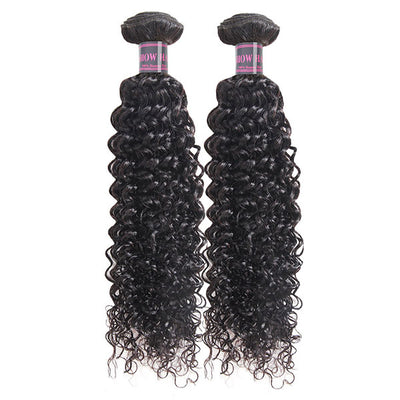 Ishow Hair Curly Wave 2 Bundles Virgin Human Hair Extensions