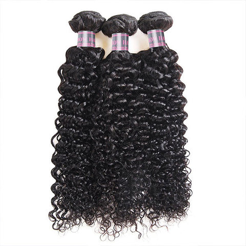 Ishow Hair Malaysian Virgin Curly Wave 3 Bundles Human Hair Extensions