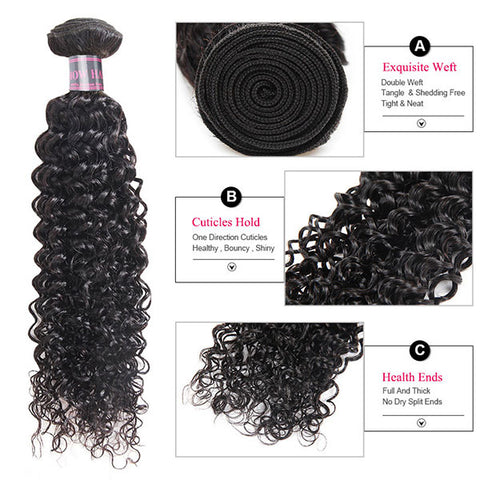 Ishow Kinky Curly Human Hair Weave Unprocessed Cheap Peruvian Hair 4 Bundles
