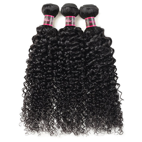 Hairsmarket Brazilian Curly Virgin Hair Weave 3 Bundles With 13x4 Lace Frontal Closure Cheap On Sale