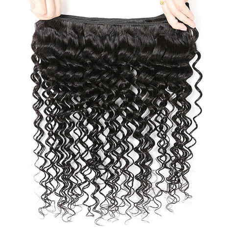 Ishow Hair 2 Bundles Deep Wave Virgin Human Hair Extensions