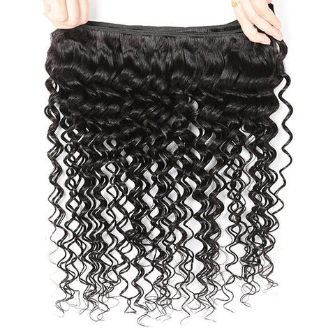 Hairsmarket 8A Ishow Deep Wave Hair Extension Buy 3 Bundles Get 1 FREE Closure 4*4 Lace Cosure