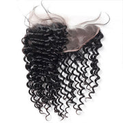 Ishow Virgin Brazilian Deep Wave Human Hair 4 Bundles With Lace Frontal Closure