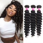 Hairsmarket Brazilian Hair 13*4 Deep Curly Lace Front Human Hair Wigs