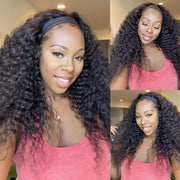 Headband Wigs Glueless Human Hair Wigs 150% Desnsity NO Lace Front Wigs