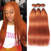 Ginger Color Brazilian Hair Bundles Straight Virgin Hair Bundles