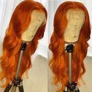 Hairsmarket Ginger Color 13*4 Lace Part Virgin Human Hair Wigs, Middle Part Lace Wigs