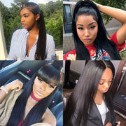 8A Ishow Straight Hair Buy 3 Bundles Get 1 FREE Closure