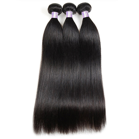 9A Allove 3 Bundles Peruvian Straight Virgin Human Hair Weaves