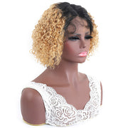 Hairsmarket Curly Messy Bob Human Hair Wig For Black Women