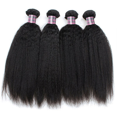 Ishow Brazilian Hair Bundles Unprocessed Kinky Straight Human Hair 4 Pcs/Lot