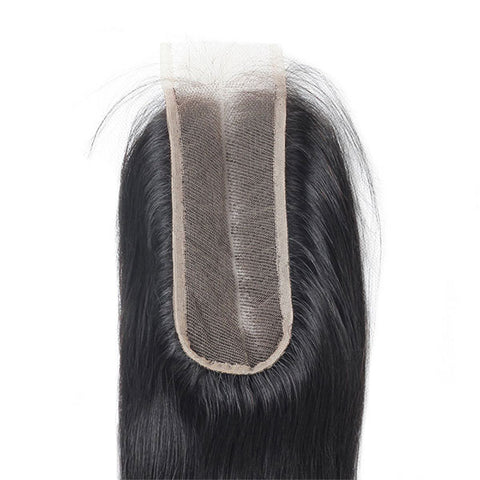 Straight 2*6 Lace Closure With Baby Hair 8A Remy Human Hair