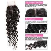 9A Quality Allove Deep Wave Hair 2*4 Lace Closure