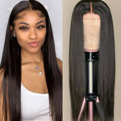 Straight Hair 13*4 Lace Front Wig Virgin Human Hair Wigs 130%/150%/180% Density