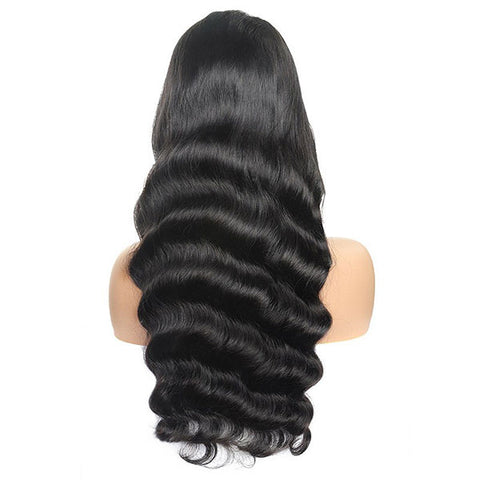 Cheap Virgin Loose Wave Human Hair Wigs 4x4 Lace Front Wig On Sale